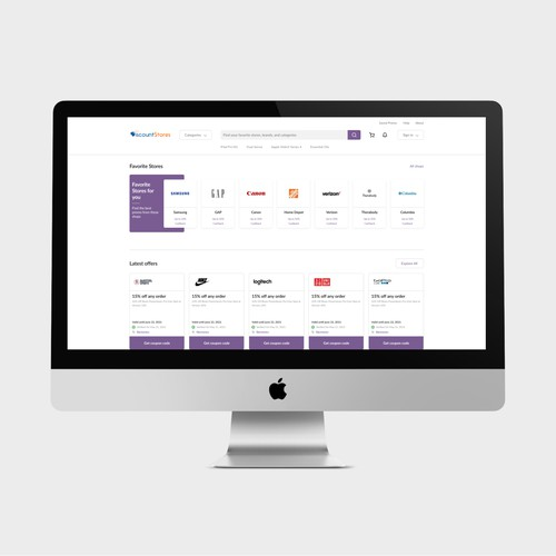 Web Redesign - Discount Store