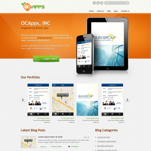 website design for ocApps.com
