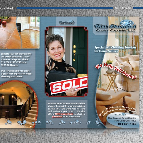 New brochure design wanted for Blue Diamond Carpet Cleaning