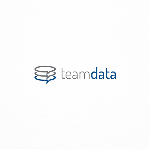 Tech logo for an app for team data management.
