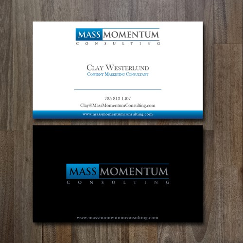 Sleek, Modern and Stylish business card, for an awesome consultant!