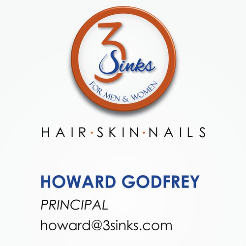 Business Card for 3sinks company