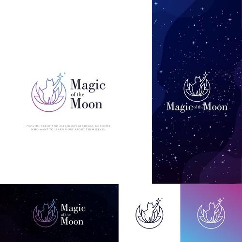 Magic of the moon. Logo for tarot/astrology reader