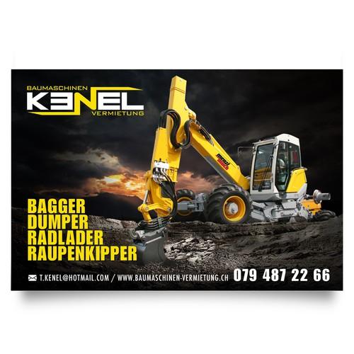 Banner para renta de tractores en Alemania