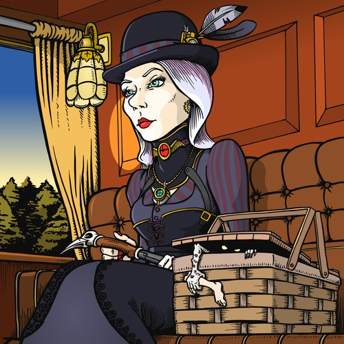Steam Punk novel illustration