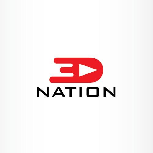 3D Nation-concept logo