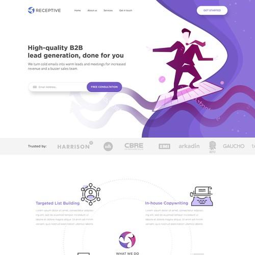 Website design fro marketing, communications company