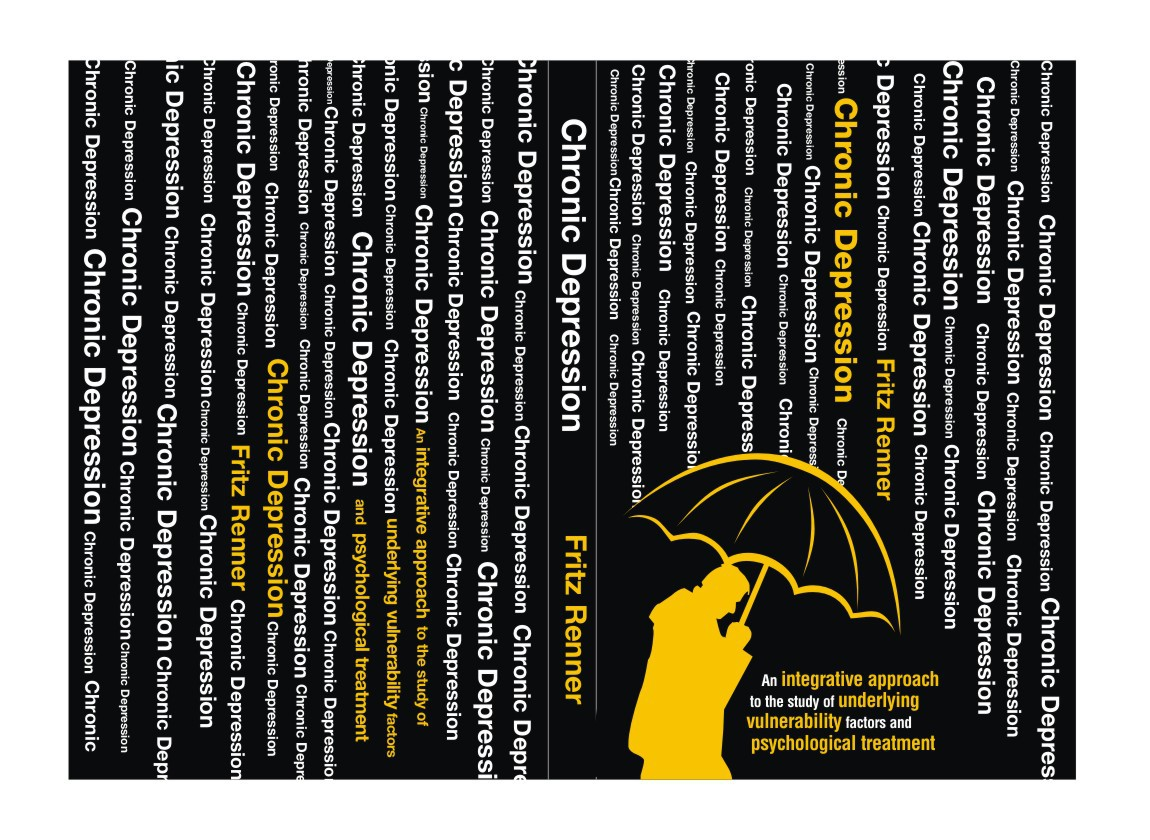 Eyecatching book cover for PhD thesis about chronic depression