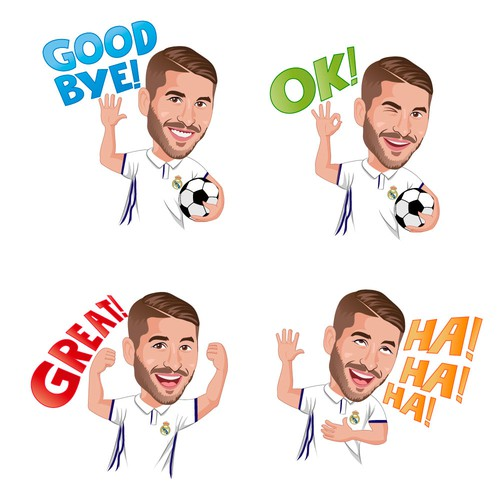 set of stickers for Sergio Ramos