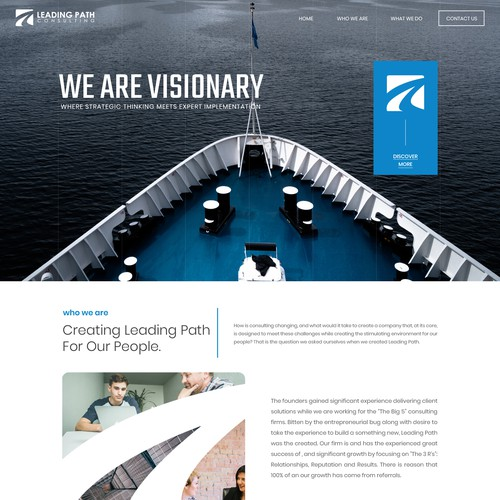 Website design for IT consulting firm