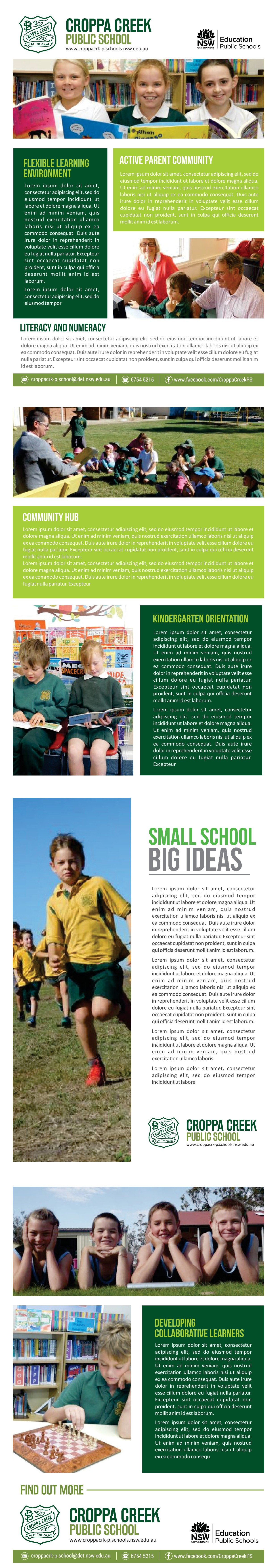 Brochure Template for Country School