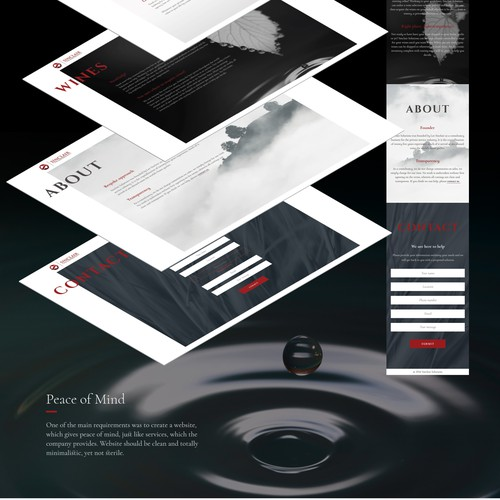 Create clean website, with relaxing feel.