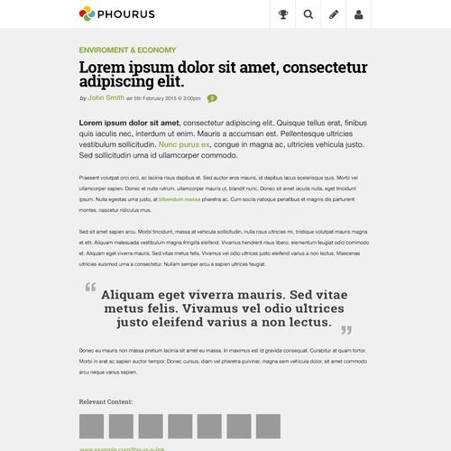 Post page design for online publishing platform