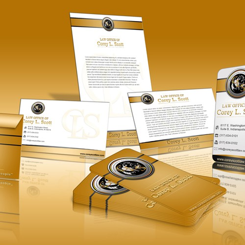 stationery for Law Office of Corey L. Scott, P.C.