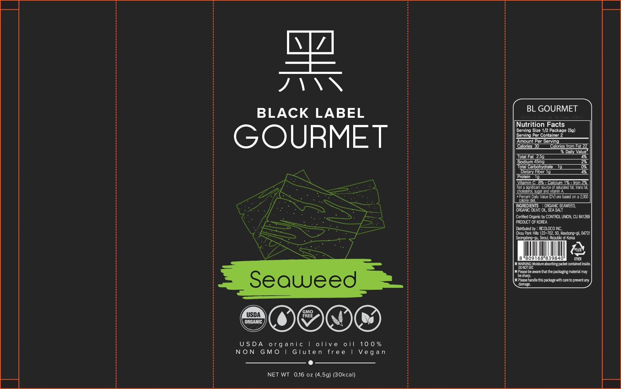Create Impactful Seaweed Snack Package Designs for Black Label Gourmet!