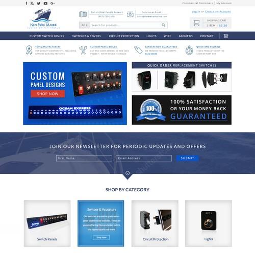 Ecommerce site selling Custom Boat Panels
