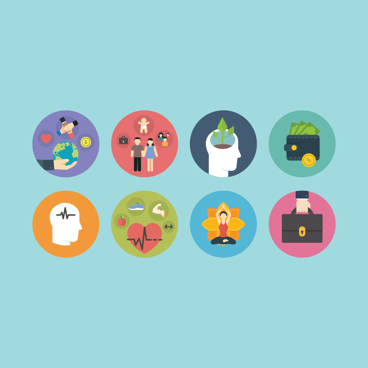 Multiple Icon design and Homepage image design