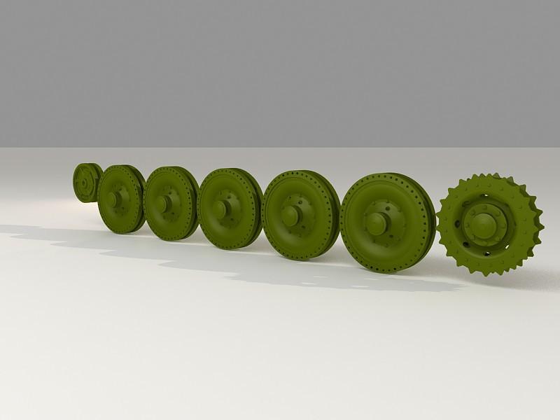 Cromwell tank wheels