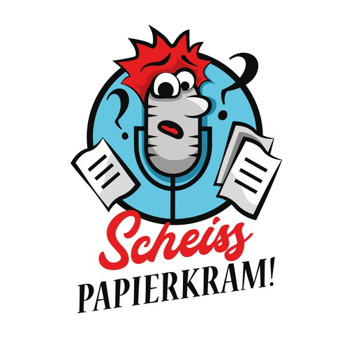 "Logo for podcast ""damn paperwork"""