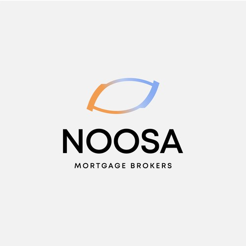 Simplicity and modern logo for mortgage brokers