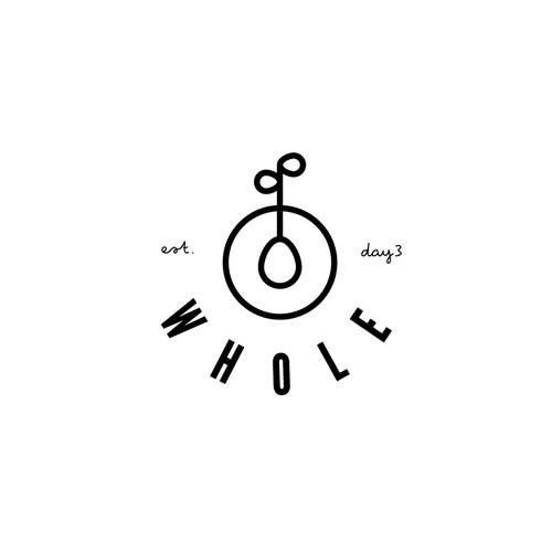 Logo design example for vegan food company