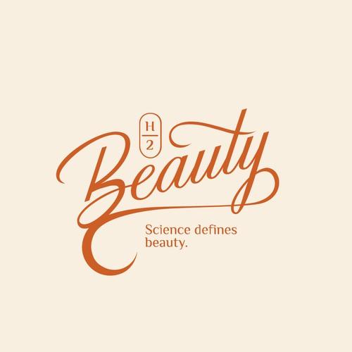 H2 Beauty Logo Lettering