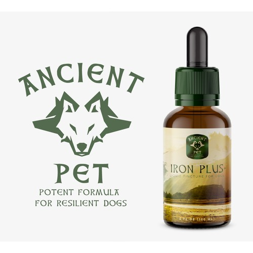 Dog Tincture Label and Logo Design