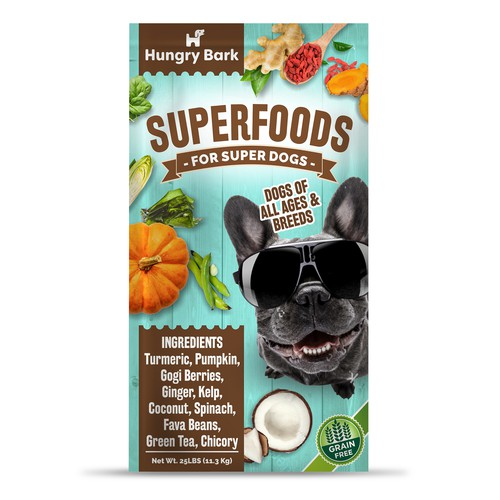 Modern package design concept for dog food
