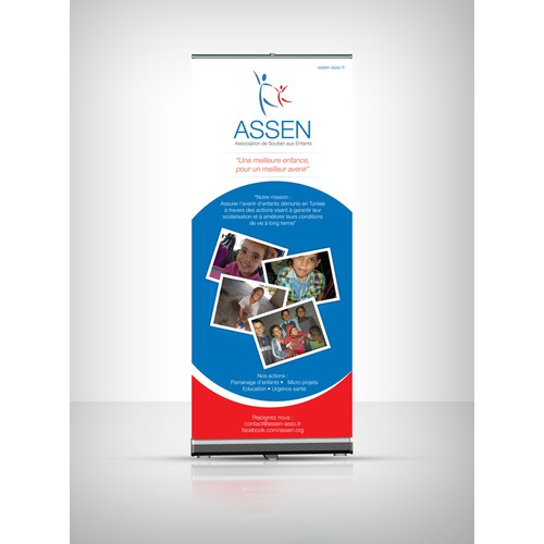 99nonprofits: Roll up banner for Association de Soutien aux Enfants