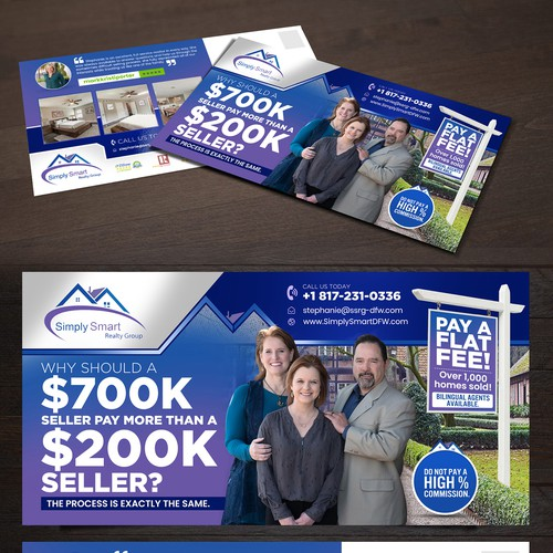 Marketing Postcard for Real Estate Company