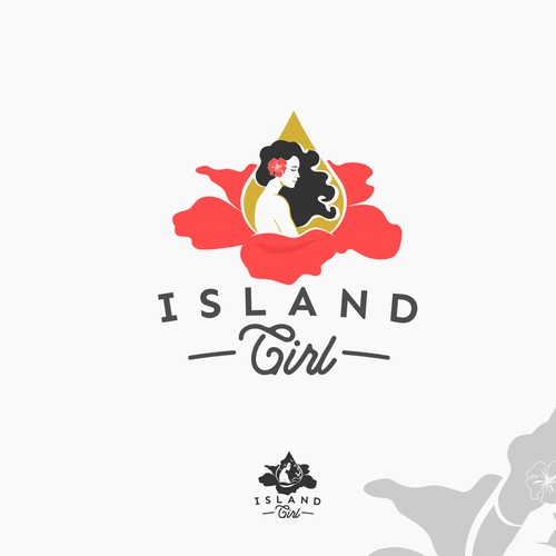 Aloha! Feminine logo with island vibe