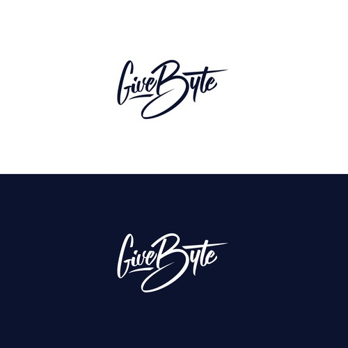 Hand-lettered logotype for GiveByte
