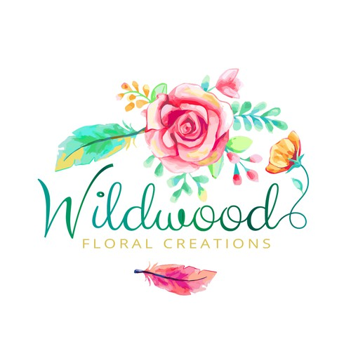 A beautiful floral logo