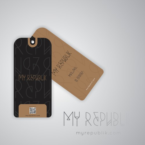 Fresh, clean, popping price tag (not price label) for My Republik