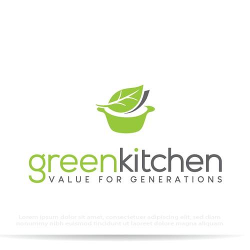 生态友好厨具零售的俏皮标志