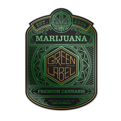 Label Design for 'Green Label RX'