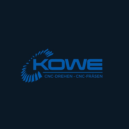 Modern logo for KOWE CNC