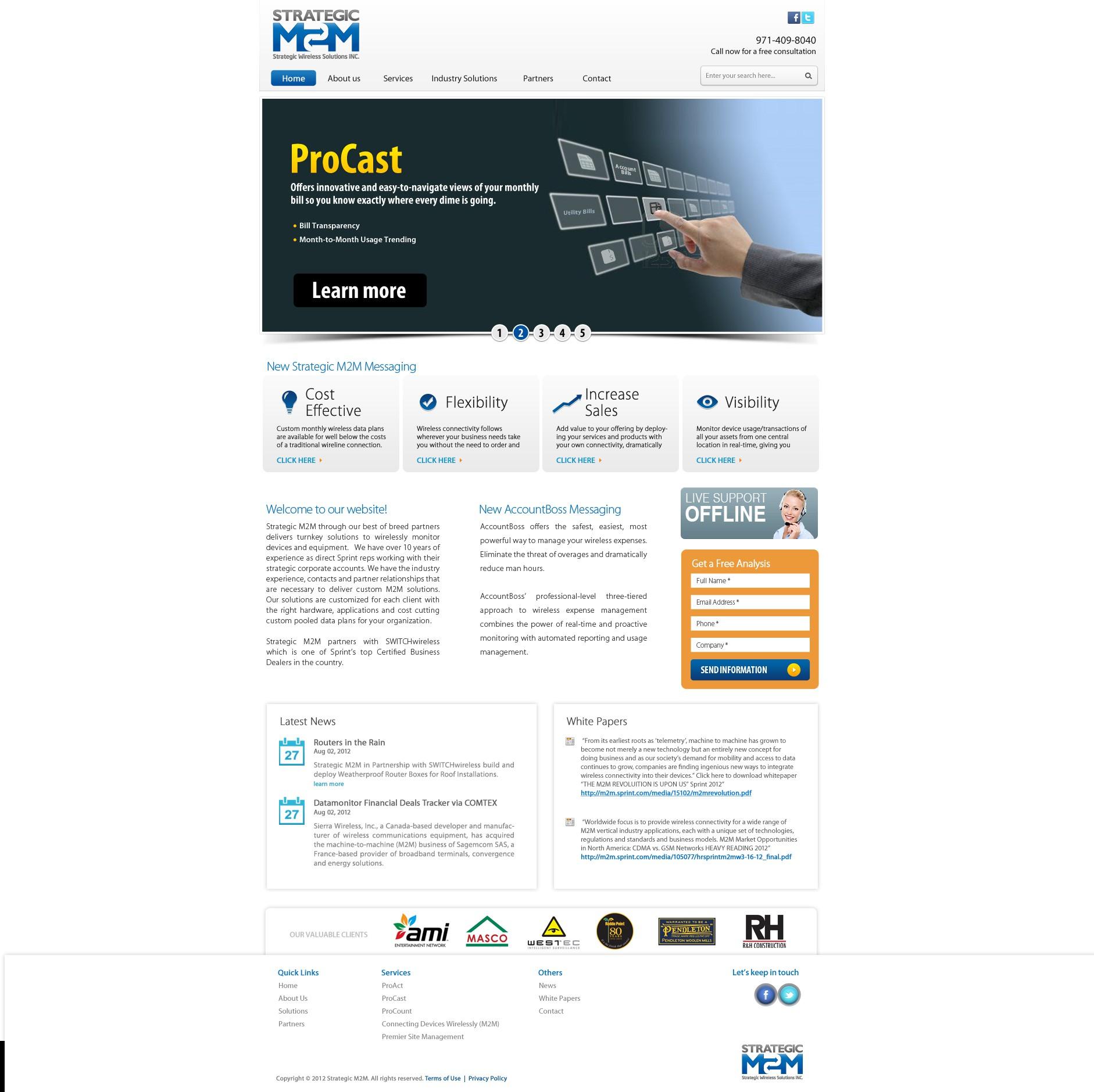 New website design wanted for Strategic M2M www.strategicm2m.com
