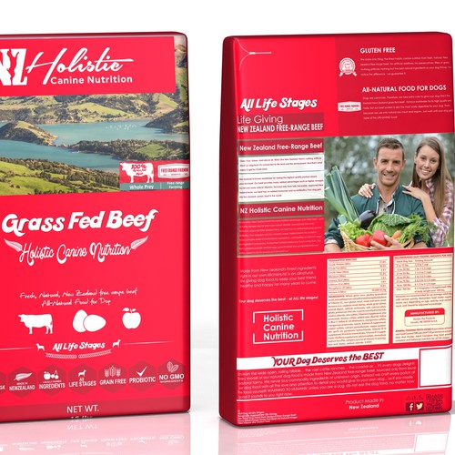 """Package Design for """"NZ Holistic Canine Nutrition"""""""