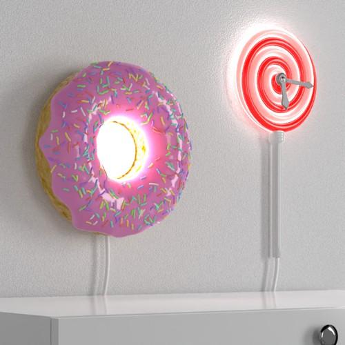 Wall Lamp Design — Donut & Lollipop