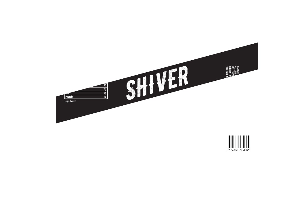 Shiver Winter Warmer Beer Label