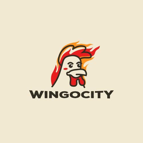 Logo for chicken wings restau