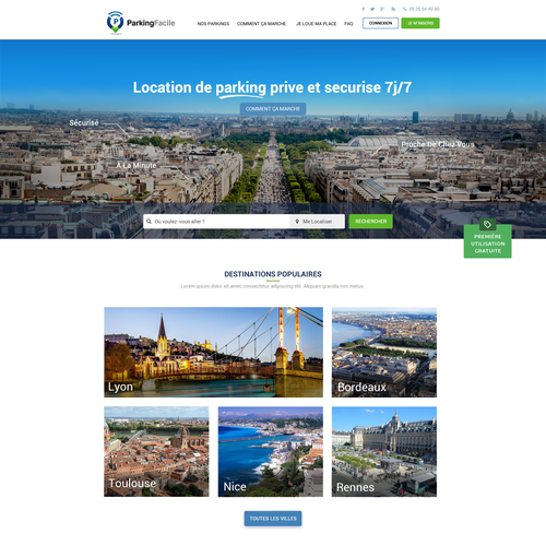Park Facile  Web Site Design
