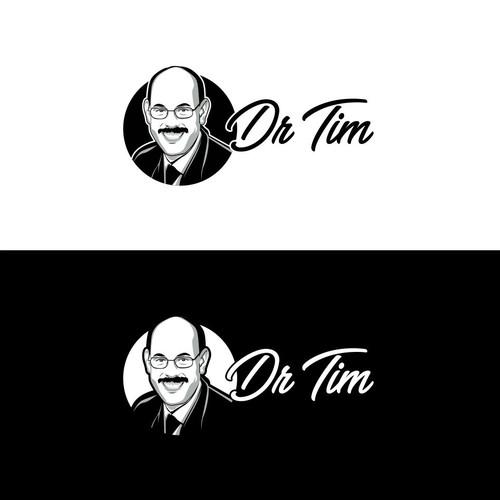 Black white vector logo