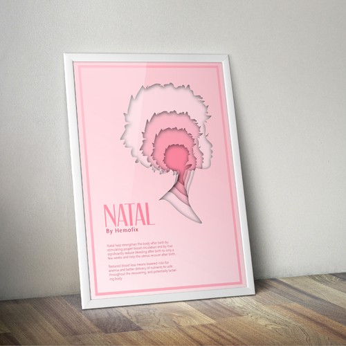 a modern style poster of Natal by Hemofix!