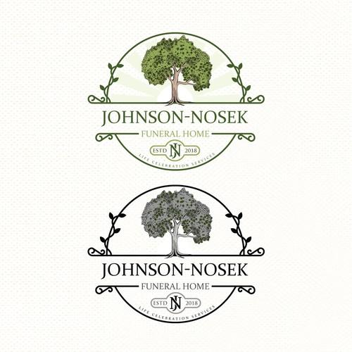Design a logo for Johnson-Nosek Funeral Home