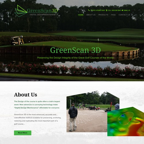 GreenScan 3D Website Revised and Updated