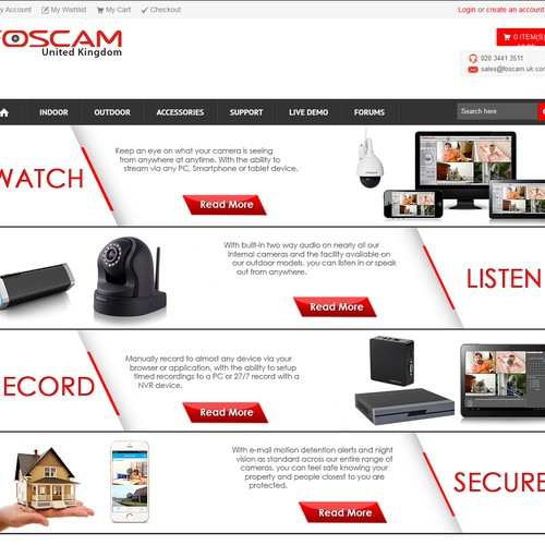 web banner for foscam