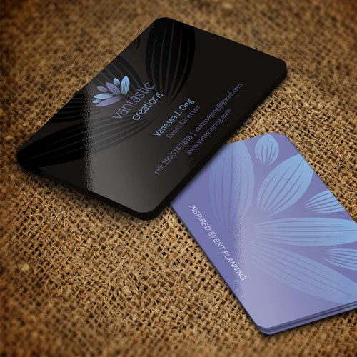 Create a unique & memorable business card for my Event Planning business