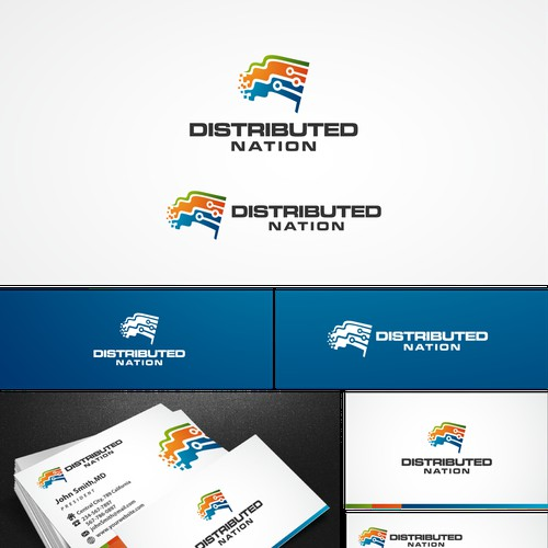 Distributed Nation needs a new logo and business card